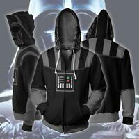 Star Wars Hoodie 3D Print Sweatshirt Zipper Hooded Casual Jacket Unisex Coat Top