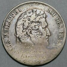 1952 Mississippi Gambler Gambling Token Coin 90% Silver 5 Francs (20011201R)