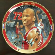 Michael Jordan Plate Return To Greatness Collection Record 72 Wins w/ Coa
