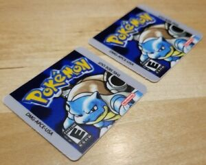 *2 Pack* Pokemon Blue Nintendo Game Boy  *REPLACEMENT LABELS ONLY* DMG-APCE-USA