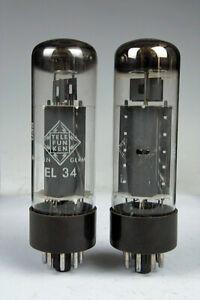EL34 Telefunken O-O Getter, 2 Stück matched Pair