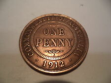 1912  KGV  PENNY  Good Condition  RARE VERY OLD COLLECTION GREAT INVESTMENT