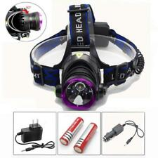 10000LM LED Rechargeable Headlight Headlamp + 2x18650 Battery + Charger