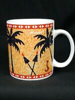 Vintage Island Heritage Hawaii Sunset Souvenir Coffee Mug 1999 Ceramic Cup Gift