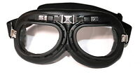 ATO 103 Schwarz DDR Motorrad Brille für Oldtimer Schutzbrille Pilotenbrille