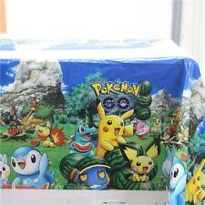 Pokemon Go Pikachu Birthday Table Cloth Cover Poke Anime US Seller New!