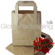"""2000 pequeño papel kraft marrón portador sos Bolsas 7x3.5 x8.5 """"para llevar alimentos Partes"""