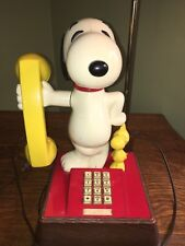 Vintage 1970's - The Snoopy And Woodstock Telephone (Phone) & Lamp Combination