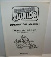 Donkey Kong Junior Arcade MANUAL Nintendo Original Video Game Operation Japan 82