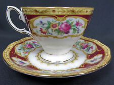 LADY HAMILTON DEMI-TASSE COFFEE CUP & SAUCER, GOOD CONDITION, ROYAL ALBERT