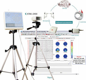 Digital 24 Channel EEG&Mapping System Machine KT88-2400,PC Software,CONTEC EEG