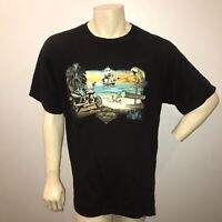 Harley Davidson Georgetown Biker Tee Size XL Black Short Sleeve Double Sided