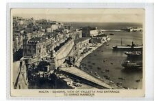 (Sa549-100) General View of Valletta -  Malta ,c1932 ,used ,VG