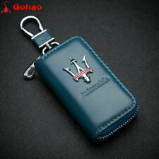 Key Fob Case Holder Cover for Maserati Ghibli GT GC Levante SUV Genuine leather