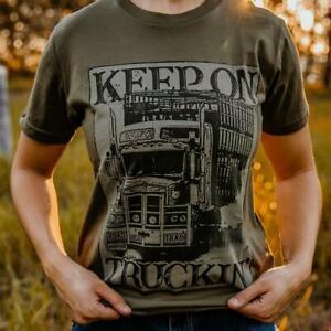 Keep On Truckin' Unisex Olive Tee
