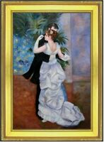 Framed, Renoir City Dance Repro, Quality Hand Painted Oil  Painting 24x36in