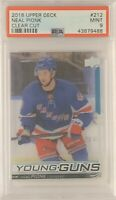 2018 2019 UPPER DECK Neal Pionk CLEAR CUT ACETATE YOUNG GUNS ROOKIE RC PSA 9