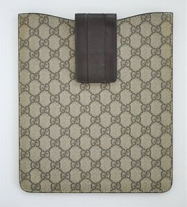 Authentic GUCCI GG MONOGRAM Canvas iPad Tablet Sleeve Pouch #256575