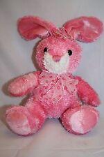 """Walmart EASTER BUNNY RABBIT 8"""" Tie Dye Flower Pink Plush Bendable Ears Stuffed"""