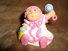 "Cabbage Patch Baby PVC vintage 1984 figure holding rattle 1.75"" tall"