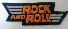 Aufnäher ROCK and ROLL Patch Musik Rockabilly