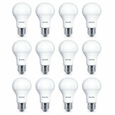 12 x Philips LED Frosted GLS E27 Edison Screw 100W Cool White Light Bulbs 1521Lm