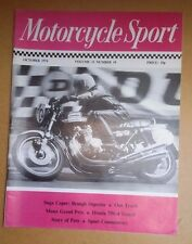 Motorcycle Sport MCS October 74 : CB750-4 : Brough Superior : AJS  Model 14