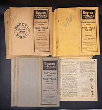 Lot Of 25 Boston & Maine Railroad Employee Time Tables & Rule Booklets 1914-1916