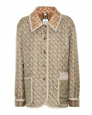 Women's BNWT Burberry Natural Monogram Quilted Silk Jacket UK10 (S) RRP 1,690