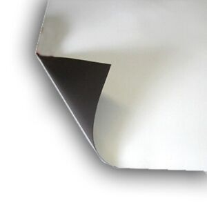 """4 sheet 16"""" x 22"""" Magnetic light weight flexible 20 mil Magnet Blank Color White"""