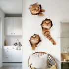 3D three Cats Wall Sticker Wc Living Room Home Decor Decal Poster Background