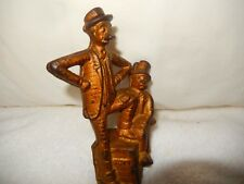 Antique c. 1900s A.C. Williams Mutt & Jeff Cast Iron Still Bank Comic Strip