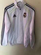 ADIDAS REAL MADRID Mens Tracksuit Top Track Jacket 36/38 S Small White Football
