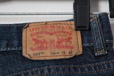 Boys Levi 569 Loose Straight Distressed Blue Jeans Size 14 Slim (25 X 27)