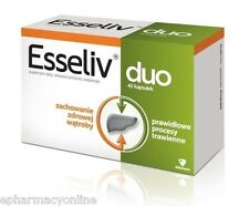 ESSELIV DUO 40 caps. liver healthy digestion FREE SHIPPING