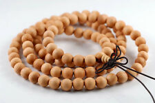 8mm 108PCS Barbie Sandalwood Thuja Sutchuenensis Mala Meditation Beads Round 33""