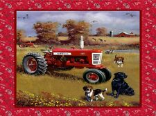 "34"" Fabric Panel - Print Concepts Farmall Tractor in Field Wallhanging Red"