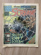 More details for scream comic issue no.2 spiders can't scream 31st march 1984 - & rare free gift