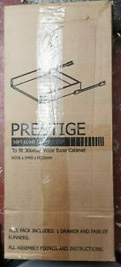 B&Q 300mm Kitchen Drawer Box Prestige Soft Close NEW - for 30cm Base Cabinet
