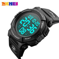 Mens Sports Watches Military Army Watch Digital LED Electronic Waterproof Skmei