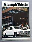 1971 Triumph Toledo 12-page UK Original Car Sales Brochure Catalog - 1970