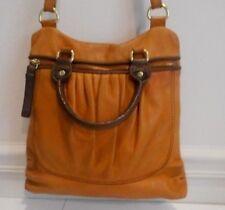 Sak Brown & Saddle, Glove Soft Genuine Leather Satchel, Detachable CB Strap Bag