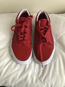 New No Box VANS Old Skool Red With Red Checkers Shoes Size 9 Women 7.5 Men