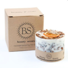 Cinnamon & Orange Scented Soy Wax Candle with Shredded Cinnamon  FAST DISPATCH!