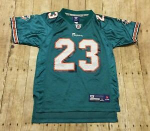 Miami Dolphins Jersey Reebok Ronnie Brown Youth Medium Women XS Small NFL Home