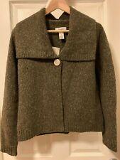 Cambridge Dry Goods Women's Wool & Angora Cardigan Heather Green M Nwt