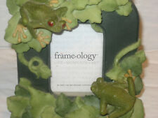 """Frame-ology Photo Frame Frogs Ornaments for 2x3"""" photos"""