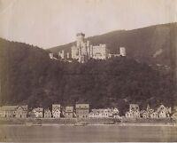 Château A Bord Del Reno Germania Vintage Albumina Ca 1880