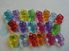 20 X Cute Transparent Acrylic Hello Kitty Pendants Kid Jewellery Making