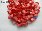 Pink Chicken Leg Bands 22mm Chicken Rings 001-100 Numbered